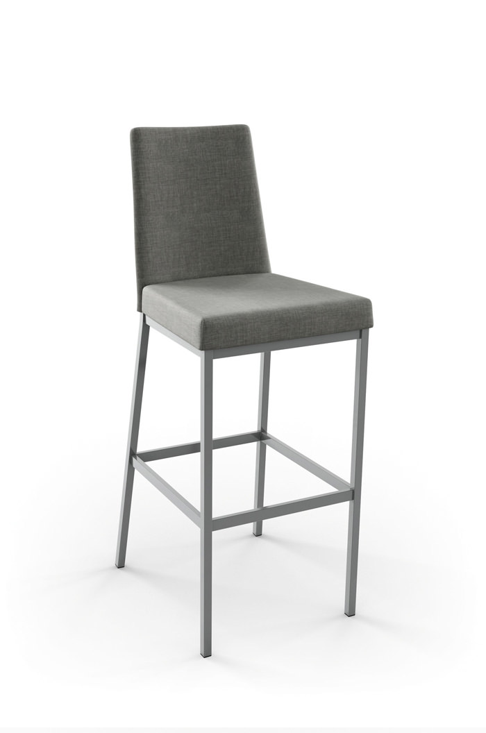 Amisco Linea Modern Stool W Padded Seat And Back Free