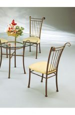 Classic Vertical Slat Back Traditional Dining Chair