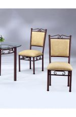 Scroll Upholstered Dining Chair with Upholstered Seat and Back