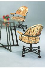 Chromcraft-Like Swivel Dinette Chair with Arms for Traditional Dining Rooms