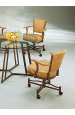 John Tilt Swivel Dining Chair with Arms and Casters
