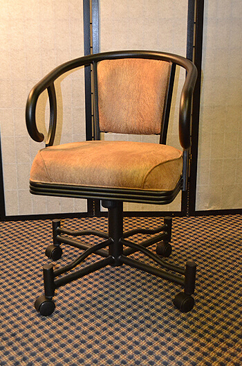 Caroline Tilt Swivel Dining Chair W Arms And Casters