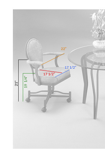 #810 Tilt Swivel Chair Dimensions