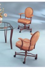 Classic Nailhead Trim Tilt Swivel Chair with Arms
