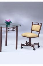 Scroll Back Swivel Dining Chair by Lisa Furniture