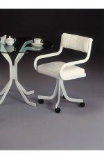 Samantha Swivel Dining Chair with Arms and Upholstered Seating