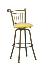 Mission Style Swivel Metal Bar/Counter Stool by Lisa Furniture