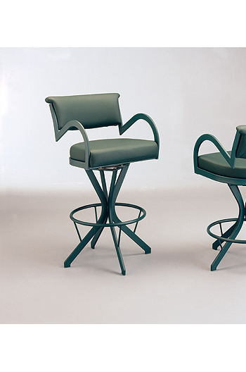 "The ""Boss"" Modern Swivel Stool #155 by Lisa Furniture"