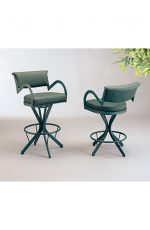 "The ""Boss"" Modern Swivel Stool with Curved Armrests for Kitchens"