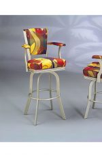 Serene Swivel Stool with Arms #2010 by Lisa Furniture