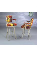 Serene Swivel Counter Stools with Arms #2010