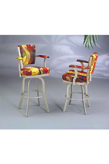2010 Serene Upholstered Swivel Counter Stool W Arms