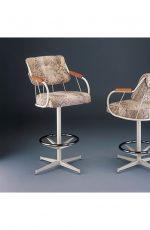 Chromcraft-Like Swivel Stool #377 by Lisa Furniture