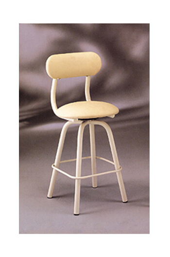 Upholstered Counter Stool with Metal Frame and Backrest