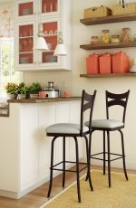 Amisco Meadow Swivel Stool Near Kitchen Island