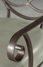 Meridian Swivel Stool in Aged Steel by Wesley Allen