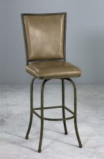 Morrison Swivel Bar Stool with Bonded Leather Seat and Backrest