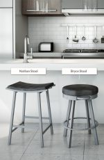 Amisco Nathan Non-Swivel Stool in Modern Kitchen