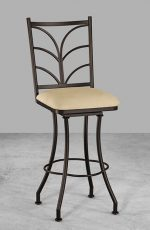Wesley Allen's Orem Swivel Bar Stool for an Elegant Kitchen
