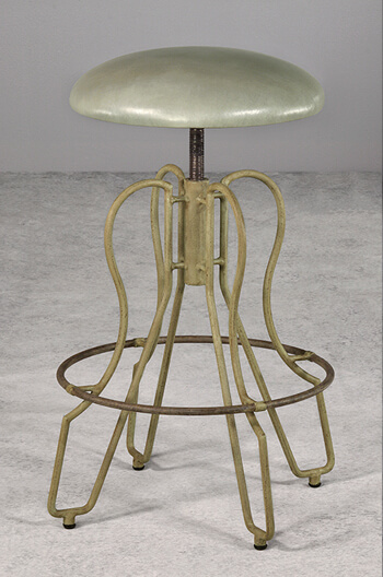 Wesley Allen's Orlando Backless Adjustable Swivel Stool