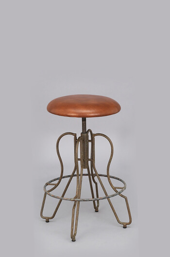 Orlando Backless Modern Industrial Chic Adjustable  : orlando backless adjustable stool wesley allen view003 from barstoolcomforts.com size 350 x 528 jpeg 22kB