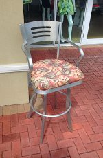 Aluminum Outdoor Stool with Back