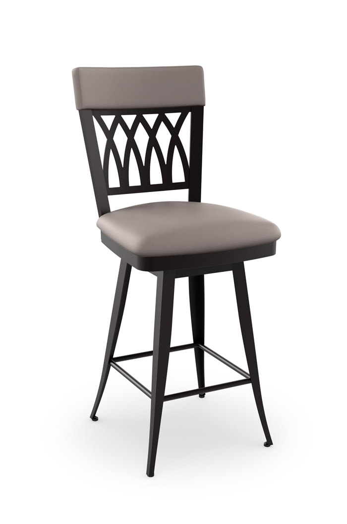 Amisco S Oxford Swivel Bar Stool W Cross Back Design