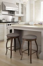 Amisco Pearl Backless Swivel Stool in Country Modern Kitchen