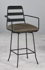 Wesley Allen's Presley Swivel Stool, Designer Bar Stool