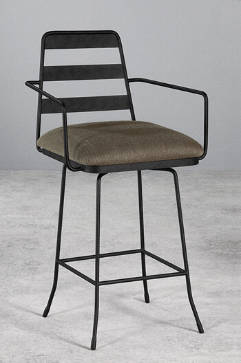 Wesley Allen's Presley Swivel Stool with Arms
