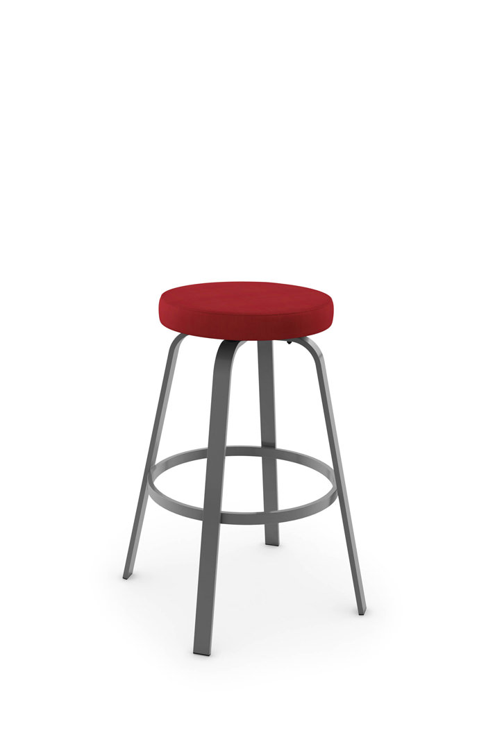 Amisco Reel Backless Swivel Stool with Metal Frame
