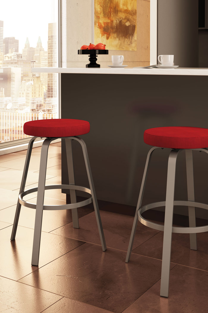 Amisco S Reel Round Backless Swivel Counter Stool