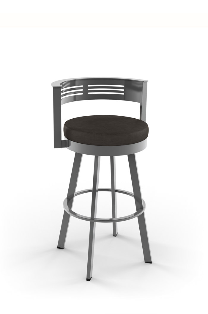 Amisco Rival Metal Swivel Stool with Low Back