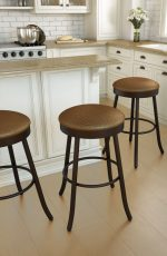 Amisco Root Backless Swivel Stool in Traditional Kitchen