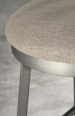 Santa Monica Swivel Stool with Aged Nickel metal finish and Fabric seat cushion