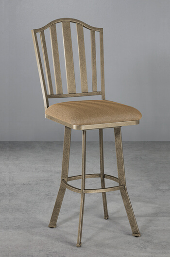 Wesley Allen's Springdale Swivel Stool with Vertical Slat Back Design