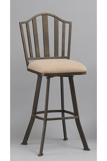 Springdale Iron High End Swivel Counter Stool In Gold