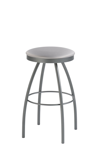 Adam Backless Swivel Stool with Round Seat Cushion