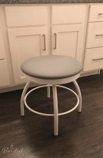 Trica's Adam Vanity Swivel Stool in Bathroom