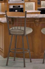 Trica Allan Metal Swivel Stool for Traditional Kitchens