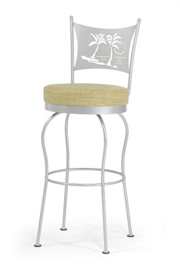 Buy Palm Tree Themed Swivel Counter Stool Barstool Comforts