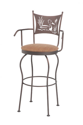 Trica Art Collection 2 Swivel Stool with Duck Laser Cut