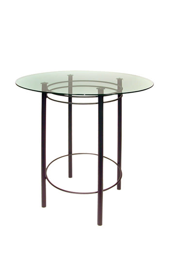 Astro Table with Round Glass