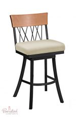 Trica's Bambusa Swivel Counter Stool for Modern Kitchens