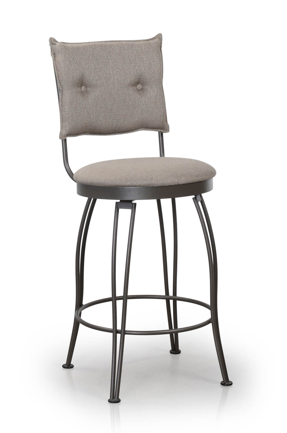 Buy Trica S Bill Swivel Button Tufted Back Bar Stool