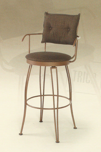 Trica Bill Swivel Stool W Arms Amp Button Tufted Back
