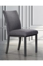 Trica's Biscaro Modern Upholstered Dining Chair in Gray