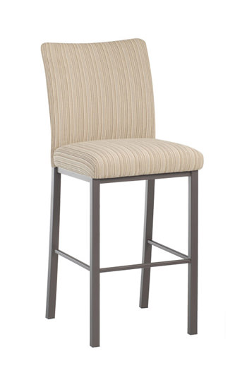 Trica Biscaro Metal Stool with Upholstered Seat and Back