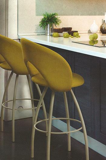 Trica Biscotti Modern Swivel Stool Italian Inspired