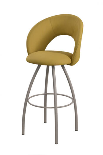 trica biscotti swivel stool with gold upholstery